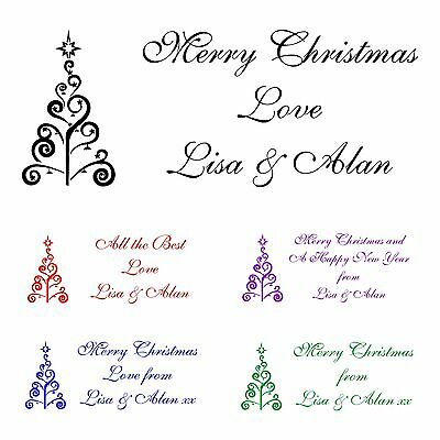 Personalised Christmas Rubber Stamp For Christmas Cards, Tags, Presents