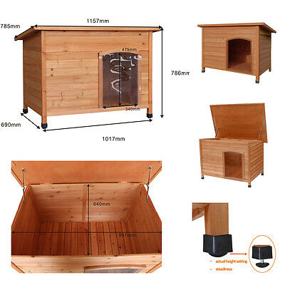 Extra Large Dog Kennel Kennels Wood House With Removable Floor Adjustable Feet