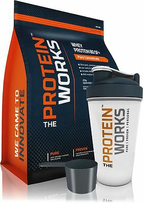 Whey Protéine Musculation Pure de THE PROTEIN WORKS™ - 10 Saveurs, 500g à 4kg