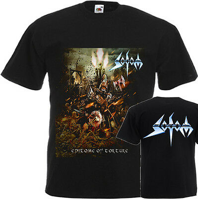 New T-Shirt ''epitome Of Torture By Metal Band Sodom'' Dtg Printed Tee-S:6Xl