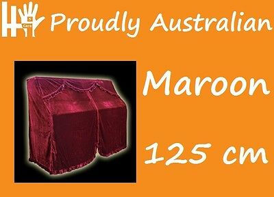 125cm MAROON RED Velour STEINBACH Upright Piano Opening Cover 4 any Kawai Yamaha