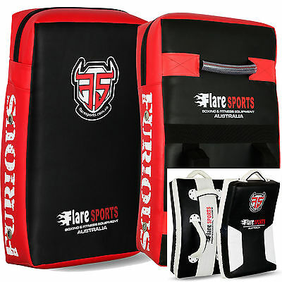 Flare Muay Thai Kick Boxing Arm Pads Curved Strike UFC Focus MMA Punch Shield