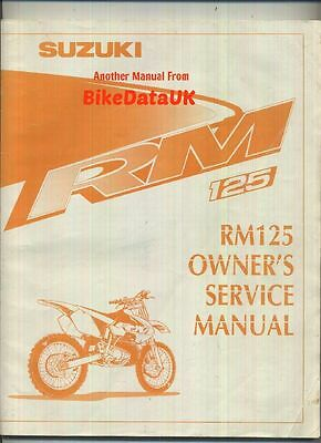 Suzuki RM125 (2000-on) Owners Factory Service Repair Shop Manual Book RM 125 Y