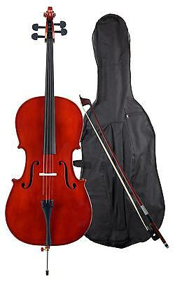 Violoncello 4/4 Principianti Cello Set Studente Con Archetto Custodia 4 Cordas