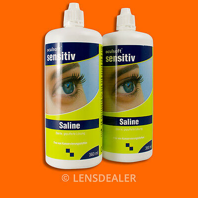 ••• Oculsoft Sensitiv Saline Doppelpack 2x 360 ml ••KONTAKTLINSEN PFLEGEMITTEL••
