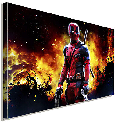 deadpool comic held leinwandbild laraart bilder kunstdruck. Black Bedroom Furniture Sets. Home Design Ideas