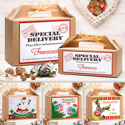 Personalised Christmas Eve Box | Kraft Brown | Party Gift | Large & Small Sizes