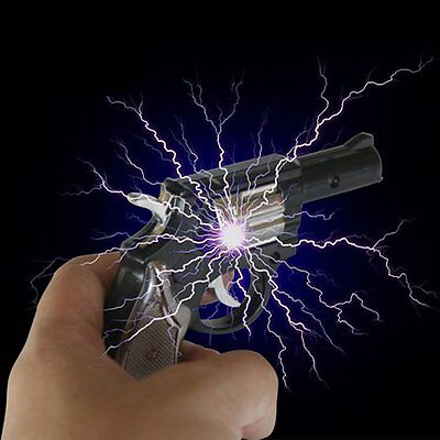 Electric Shock Gun Black Pistol  Prank Novelty Trick Party Fun Toy