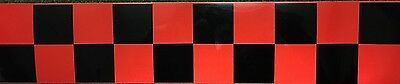 High Quality Red/black Chequered Reflective Tape 50Mm Width 7 Lengths