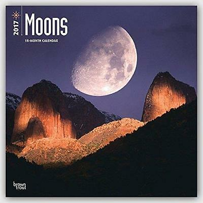 Moons Lunar 2017 Uk Square Wall Calendar New & Sealed