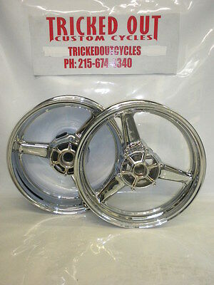 99-02 YAMAHA YZF R6 Factory Chrome wheel NO EXCHANGE OUTRIGHT 2000 2001-2002