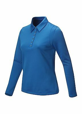 Callaway Golf Ladies Long Sleeve Polo Shirt  Princess Blue Extra Small