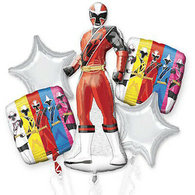 Power Rangers DINO CHARGE Balloon Bouquet 5pc Birthday Party Supplies Decoration