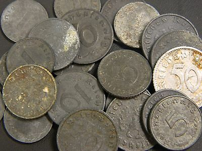 Lot of (24) WW2 German Swastika Coins!! See Listing OLD GERMAN COINS!