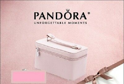 PANDORA Unforgettable Moments | Genuine PINK TRAVEL CASE *NEW* Mother's Day RARE