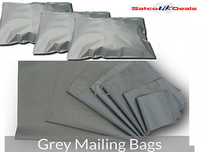 Grey Mailing Bags All Sizes Strong Postage Postal Self Seal Post Mail Bag Seal