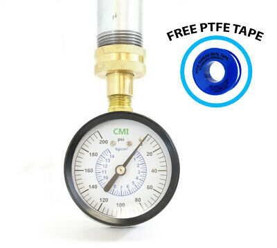 "200 PSI Water Pressure Gauge 3/4"" FNPT Connection for Pipe Thread 2.5"" 63mm Dial"