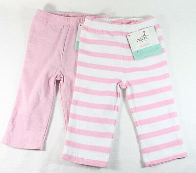 Lot of 2 Aden + Anais 3-6 Months Baby Girl Muslin Cotton Pants Pink/White