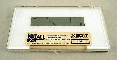 """EDITALL P-2 Splicing Block for 1/4"""" Audio Tape - New, Free Shipping"""