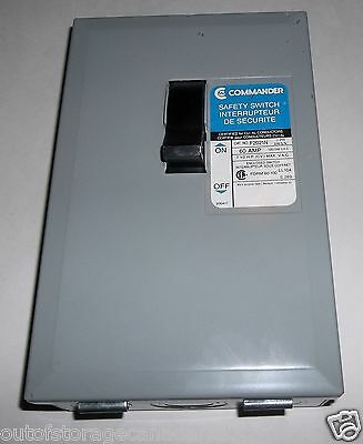 Commander Safety Switch 60 AMP F2021N - NEW