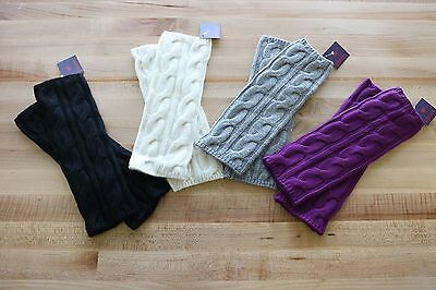 Phenix Cashmere Women's Cashmere Wool Cable Knit Arm Warmer / Fingerless Gloves