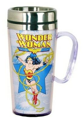 DC Comics Wonder Woman Insulated Travel Mug, Multi Colored