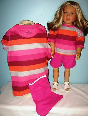 Matching Girl and Fits My Twinn Doll Short Outfit - Size 4/5
