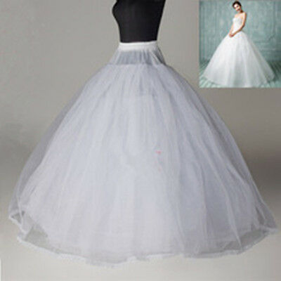 New 8 Layer White Crinoline Petticoat no hoop ball gown wedding dress Underskirt