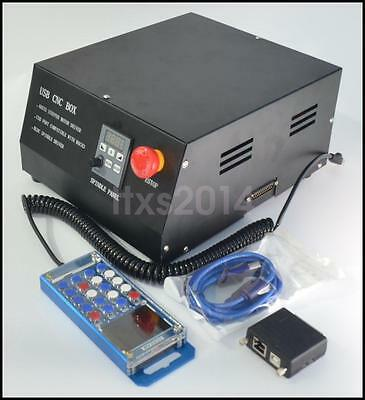 4 Axis CNC Engraving Machine Controller Box + MACH3 Adapter + LCD Manual Control