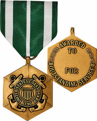 Coast Guard Commendation Medal Full Size Made in USA Collector Replacement Hex