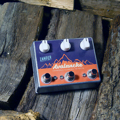 Zander Circuitry Avalanche Overdrive, Fuzz, Distortion Electric Guitar Pedal