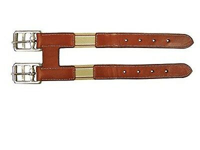 Derby Originals Girth Extender with Elastic for English Girths, Chestnut