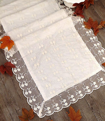 Runner Shabby Chic New Crema collection Blanc Mariclo Colore Off White  60 x 160
