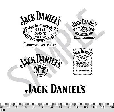 Jack Daniel's Code 3 Decal Stickers 5 PACK Black 1:24 1:18 Diecast Cars