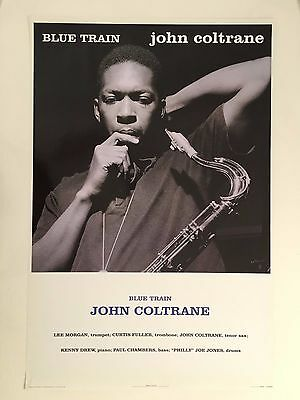 John Coltrane,blue Train,photographed By Francis Wolff,rare 2004 Poster