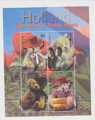 Grenada Holland 100 Years Of Teddy Bears Mnh Stamp Sheet
