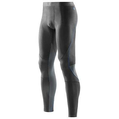 SKINS Men's RY400 Compression Long Tights For Recovery Muscle Healing Graphite