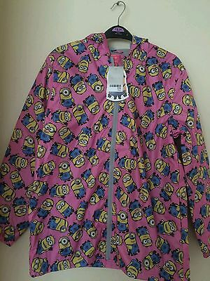 Next Girls Pink Minion Hood Water Resistant  Jacket age 14 yrs