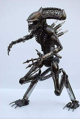 Alien 60 cms high  Scrap Metal Sculpture Gift for Anniversary