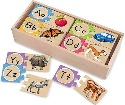 Childrens Learning Alphabet Jigsaw Puzzle With Letters Educational Spelling Toys