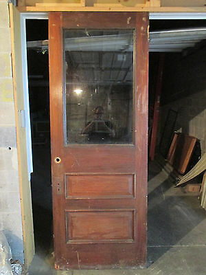 ~ ANTIQUE OAK AND CHERRY DOOR ~ 35.5 x 95.75 ~ ARCHITECTURAL SALVAGE ~