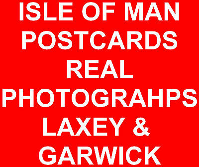 IOM Isle of Man Manx Postcards Real Photographs of Laxey & Garwick