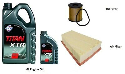 Ford Mondeo Mk4 2.0 Tdci Service Kit Oil Air Filter + 6L Oil  (Fits: Mondeo Mk4)