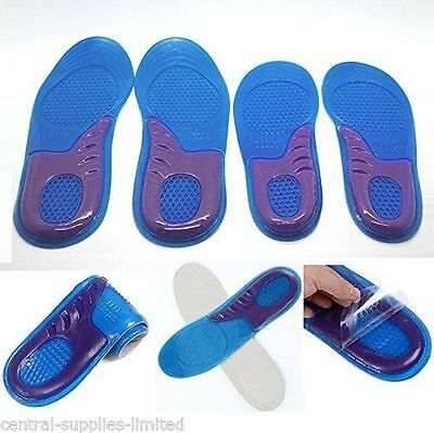 Women Size 4-6 Silicone Gel Heel Insoles Cushion Shoe Pad Foot High Arch Support