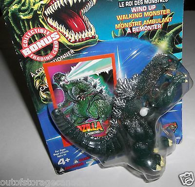 Godzilla Wind Up Walking Monster Toy King of The Monsters - New On Card MOC 1994