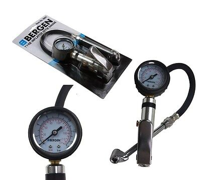 8801 Bergen Auto Car Tyre Tire Air Inflator With Pressure Gauge Garage Tools