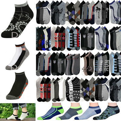 1~50dozens Men's Mixed Assorted Designs Colors Ankle Low Cut Socks Wholesale Lot