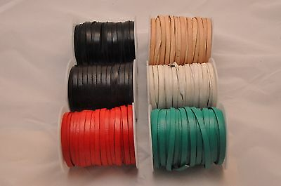 100% Real Flat Leather Cord 5mm x 1.2mm Thick String Lace Thong Jewellery - HQ