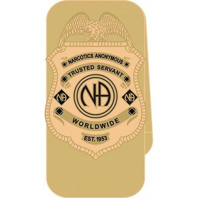 Narcotics Anonymous NA Trusted Servant Money Clip 12 Step Recovery Gold Metal