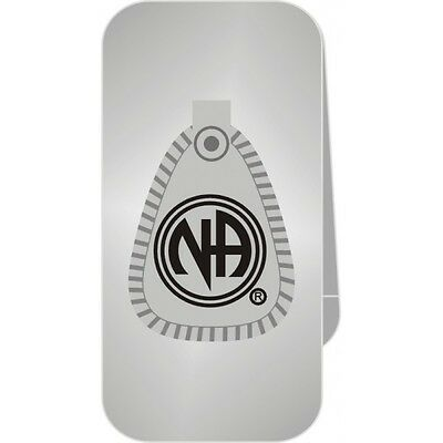 Narcotics Anonymous NA Symbol Money Clip 12 Step Recovery Silver & Black Metal
